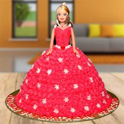 Black Forest Barbie Doll Cake