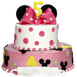 Minnie Mouse 2 tier Cake 3kg