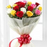 15 Mixed roses